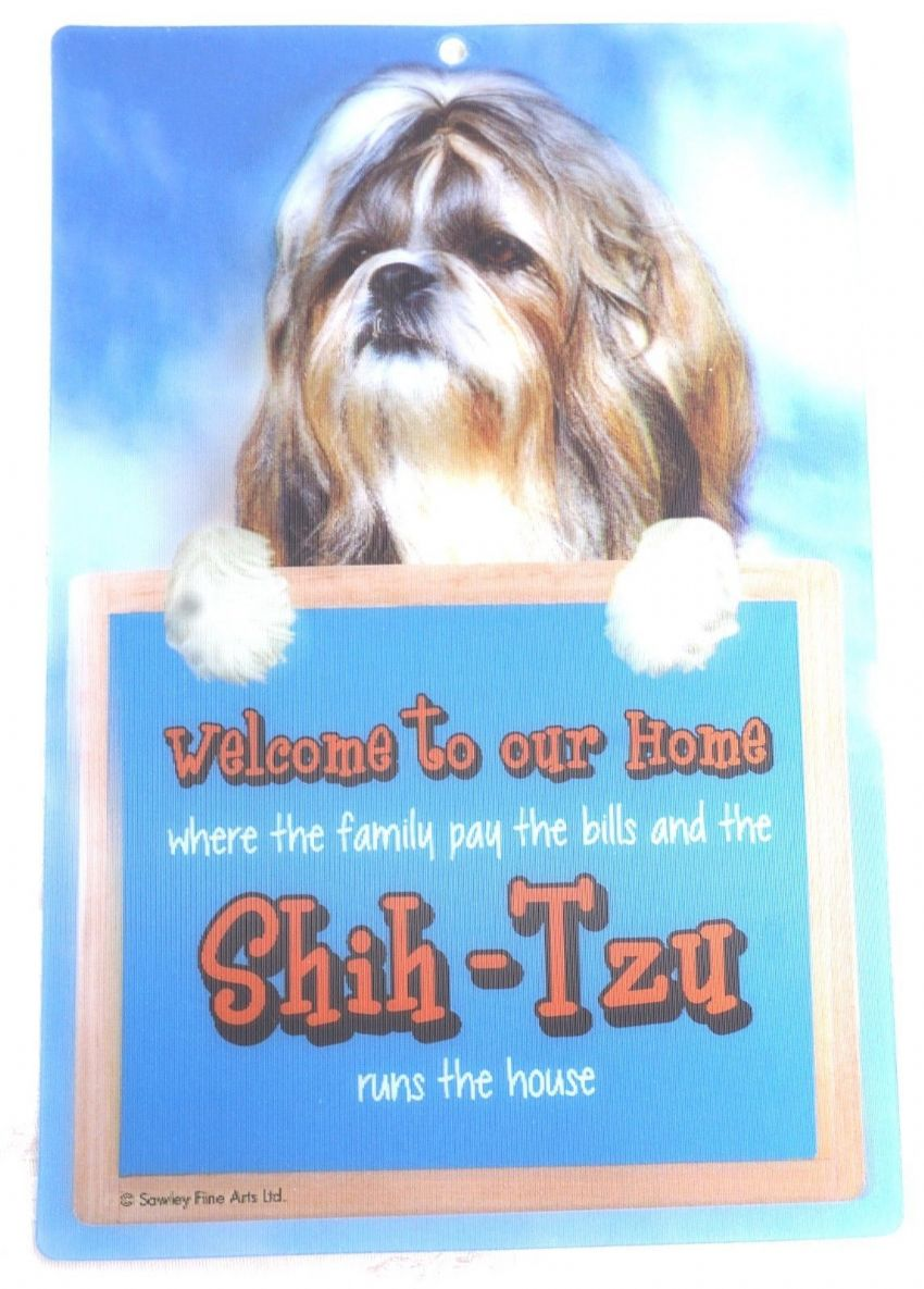 SHIH-TZU 3D WELCOME SIGN STUNNING EYE CATCHING 23CM X 15CM DURABLE DOG SIGN